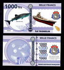 ★★★ ILE TROMELIN ● TAAF ● BILLET POLYMER 1000 FRANCS ★★ COLONIE FRANCAISE