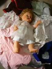 Doll Vintage Girl Doll Baby Cry's Sleeping Eyes Clothes 5 Outfits 17""