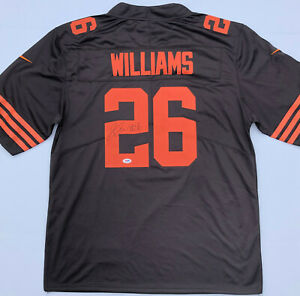 PSA/DNA Cleveland Browns #26 GREEDY WILLIAMS Signed Autographed Football Jersey