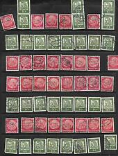 Collection of 59 Germany Stamps Scott 422 & # 827 USED ALBRE singles, pairs used
