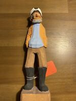 Hand Carved Old Sailor Measuring 12 Inches Tall