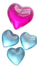 Sky Blue and Fuchsia Pink Smooth Heart Chandelier Crystals Pendant