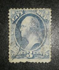 Travelstamps: US  Stamps Scott #O37 3cents, Navy Department, Used, Ng, Hinged.