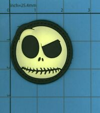 GITD PVC Nightmare Before Christmas Jack Skellington Skeleton Face MORALE Patch