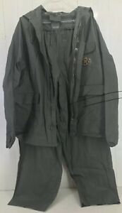 Stearns Vintage Military Rain Jacket Pants Full Suit Mens Medium  (1638)
