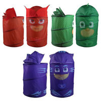 Childrens PJ Masks Characters Pop Up Laundry Washing Basket Bin Toy Storage Box