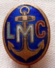 Insigne boutonnière épinglette 18mm LMC LIGUE MARITIME COLONIALE Marine ORIGINAL
