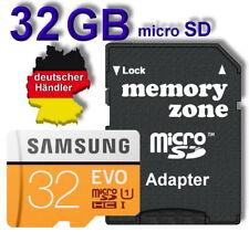 32 GB Samsung evo micro SD Speicherkarte (95m/s) SDHC + Adapter Modelljahr 2017