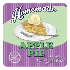 Homemade Apple Pie 50's Diner Kitchen Cafe Food Retro Drinks Table Coaster
