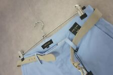 """Men's River Island Light Blue Belted Chino Shorts Size 32"""" New with Tags"""