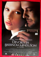 GIRL WITH A PEARL EARRING 2003 SCARLETT JOHANSSON UNIQUE SERBIAN MOVIE POSTER