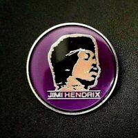 Jimi Hendrix Purple Pin Badge 1970's