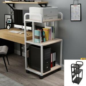 Drucker-Rolltisch Druckerständer Druckerwagen Beistelltisch Rollwagen Bürowagen