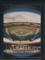2019 Topps Series 2 Ballpark Evolution BLUE ES-8 Milwaukee Brewers