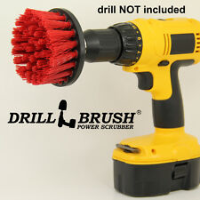 4 Inch Long Bristle Red Stiff Nylon Powered Stone, Brick Cleaning Brush