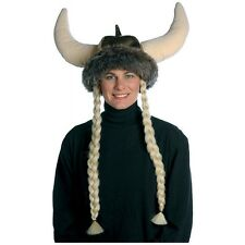 Space Viking Hat with Braids Costume Accessory Adult Halloween