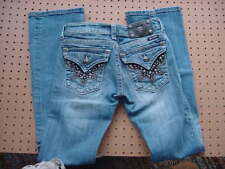 Vintage Womens Miss Me Jeans 26X31 JW6064B Boot Leather Star Studs Offer Allowed