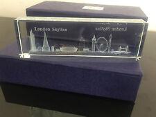 London Skyline 3D Crystal Souvenir Tower Bridge London Eye Big Ben British Gift