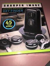 New Sharper Image , Key Finder, portable electronic ,45 foot range , for 2 keys