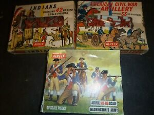 Airfix 1/72 Toy soldiers/ Indians/Civil War/Washington's Army (England) 1960's