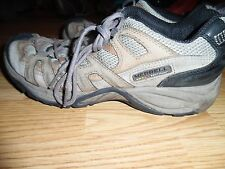 MERRELL BROWN LEATHER & MESH PANTHEON DUSTY OLIVE SNEAKER SHOE SIZE 8 M