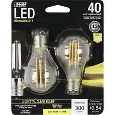 2-Pack LED INTERMEDIATE BASE E17 Soft White DIMMABLE 40W Equiv Feit Light Bulb