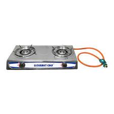 Portable 2 DOUBLE Burners Stove Range Propane Gas Stove 20,000 BTU