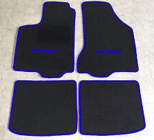 Autoteppiche Fußmatten für Seat Ibiza Cupra 6K 4tlg. 1993-2002 schwarz-blau  Neu