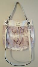 "COACH Shoulder Bag/Cross Body Beige ""Ashley"" A1020-15051 Silver Hardware USED"
