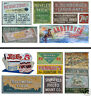 HO Scale Ghost Sign 2-Pack #12 - Great for Weathering Buildings & Structures!
