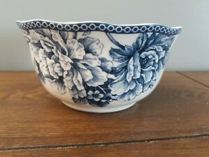 222 Fifth (PTS) Adelaide Blue and White Soup Cereal Bowl
