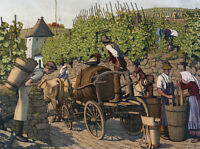 """perfect 36x24 oil painting handpainted on canvas """"Harvesting Grapes""""@NO4003"""