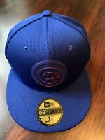 NEW ERA MLB Chicago Cubs 59FIFTY Clubhouse Collection Fitted Blue Hat Cap 7 1/8