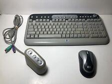 Hewlett Packard HP Internet WireMultimedia Keyboard PS/2 Hot Keys Model 9120RF