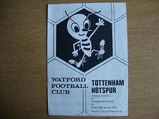 1974/5 Watford v Tottenham Hotspur Spurs - Friendly - Excellent Condition