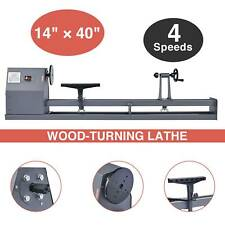 14 in. x 40 in. 1/2Hp 120V/60 Hz 4 Speed Benchtop Woodturning Wood Lathe Tool