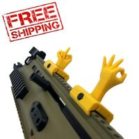 Novelty Sights for 21mm Wide Rail Mount Base - Yellow - Free Shipping!!