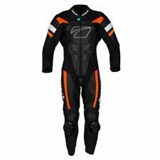 Spada Curve Evo 1 One Piece Leather Motorcycle Racing Suit Black Fire Red orange