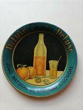 ORANGE SODA COASTER  MINI TIN TRAY DELUXE 1930s MADE IN MEXICO
