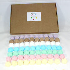 Bath Bombs mixed scents of 70 x 10g Flowers Bee Beautiful reduced plastic