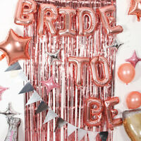 """Bridal Shower Party Rose Gold Aluminum Film Balloon Decoration """"BRIDE TO BE"""""""