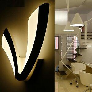 Modern LED Wall Lamp Bathroom Bedroom 12W Wall Sconce White Indoor Lighting