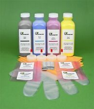 HP CP3505dn CP3505n CP3505x Four Color Toner Refill Kit with Chips