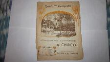 A. CHIRICO BIONDA SIRENA QUADRETTI CAMPESTRI SPARTITO PIANOFORTE ED CARISCH 1949