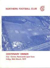 NORTHERN CENTENARY DINNER 18 Mar 1977 RUGBY MENU BOOKLET, NEWCASTLE-UPON TYNE