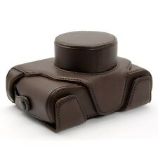 Ever Ready Camera PU Leather Bag Pouch Case Cover For FUJIFILM LC-X10 X20 Brown