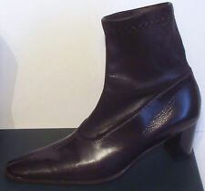 Low Boots ROBERT CLERGERIE Bottines 'Chaussettes' Cuir Noir P.35,5 - NEUF