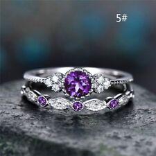 Glamour Women Titanium Stainless Steel Crystal Rhinestone Wedding Band Ring Gift