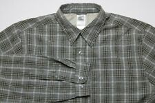 The North Face Mens Button Down Shirt Size Large Long Sleeves Modal Polyester