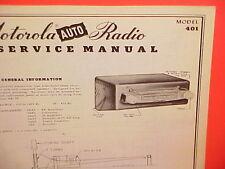 1950 MOTOROLA AUTO CAR AM RADIO FACTORY SERVICE SHOP REPAIR MANUAL MODEL 401